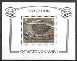 Timbre Neuf** D'autriche, BF N° 11 Yt N°1578 Yt, 500 Ans De La Libération De Vienne Assiégée Par Les Ottomans - 1945-.... 2ème République