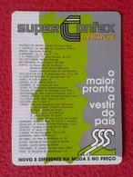 CALENDARIO DE BOLSILLO MANO PORTUGAL PORTUGUESE CALENDAR 1988 SUPER CONFEX MACONDE IMAGEN DE MAPA DE PORTUGAL MODA MAP - Calendarios