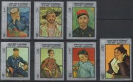 Kathiri Du Hadramaout 1968 - MNH ** - Peinture - Van Gogh - Michel Nr. 202A-208A Série Complète (ade079) - Timbres