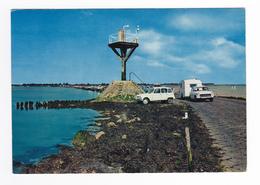 85 Ile De Noirmoutier Le Passage Du Gois N°21 Postée à Barbâtre En 1970 Peugeot 404 Tractant Caravane Renault 4L - Ile De Noirmoutier