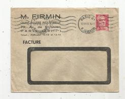 Lettre , 1945 ,PARIS 61 , R.LEGENDRE , 2 Scans, M. Firmin , Quincaillerie , 72 Av. De Saint Ouen - 1921-1960: Période Moderne