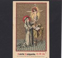 Neogotische Devotieprent Sancta Luitgardis - Religion & Esotericism