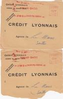 COVER. LETTRE. 2 X FRONT. SENEGAL DAKAR 1960 CREDIT LYONNAIS - Unclassified