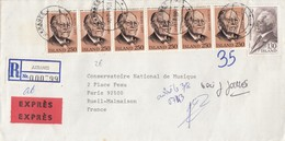 COVER. LETTRE.  ISLAND. EXPRES 1981. REGISTERED AKRANES TO FRANCE - Unclassified