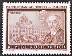 Timbre Neuf** D'autriche, N°1575 Yt, 100 Ans De Carl Freiherr Von Hasenauer, Architecte - 1945-.... 2ème République