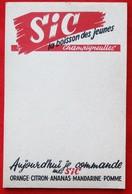 """Carnet Publicitaire  Limonade SIC """"CHAMPIGNEULLES""""   54 - Pubblicitari"""