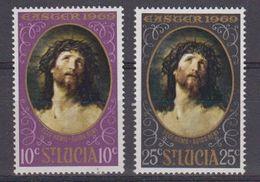St. Lucia 1969 Easter 2v ** Mnh (41901) - St.Lucia (...-1978)