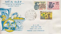 Enveloppe  FDC   1er  Jour   VIETNAM   La  Moisson   1971 - Viêt-Nam
