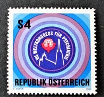 Timbre Neuf** D'autriche, N°1574 Yt, 7è Congrès Mondial De Psychiatrie à Vienne Wien - 1945-.... 2ème République