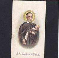 Devotieprent S.Vincentius De Paula - Religion & Esotericism