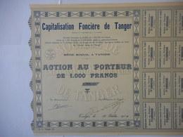 Capitalisation Fonciere De TANGER  1930         MAROC  JAMAIS VU EXEMPLAIRE RARE à SAISIR - Afrika