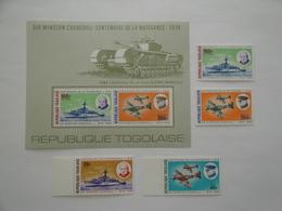 1974 Togo Yv 824/5 + PA 241/2 + BF 84 ** MNH Bateaux  Ships War II  Churchill Cote 14.50 € Michel 1074/7 + B 92 - Togo (1960-...)