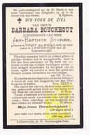 DP Barbara Bouckhout ° Tielt 1835 † Lichtervelde 1907 X JB. Storme - Images Religieuses