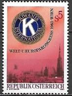 Timbre Neuf** D'autriche, N°1573 Yt,  Congrès Mondial De L'europe De Kiwanis International à Vienne, Wien - 1945-.... 2ème République