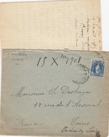 COVER. LETTRE.   SWIZERLAND. 1901. AGENCE AGRICOLE J.BOCHET GENEVE TO FRANCE - Unclassified