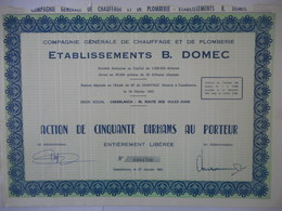 Ets B DOMEC     Chauffage Et Plomberie CASABLANCA Route Des Ouled Ziane 1981  BELVEDERE - Afrique