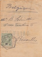 COVER. LETTRE.   PART. PORTUGAL TO BELGIUM - Unclassified