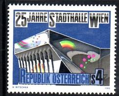 Timbre Neuf** D'autriche, N°1571 Yt,  25 Ans Du Hall Municipal De Wien, Vienne, Stadthalle - 1945-.... 2ème République