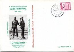 """(DDR-B3) DDR Sonderumschlag """"5 Jahre Wohngebiet Ltn.-Lutz-Meier.Straße"""", EF Mi 2485, TSt.17.5.89 SUHL - [6] Democratic Republic"""