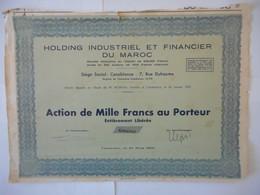 Holding Industriel Et Financier Du MAROC        1950 CASABLANCA MAROC - Aandelen