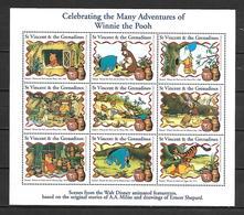 Disney St Vincent 1998 Winnie The Pooh Sheetlet MNH - Disney