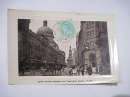 CPA  AUSTRALIE Queen Victoria Markets And Town Hall Sydney 1911  TBE - Sydney
