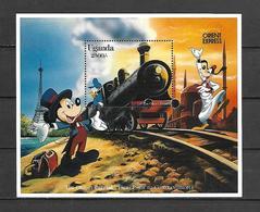 Disney Uganda 1991 Orient Express MS #1 MNH - Disney