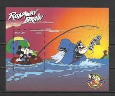 Disney Uganda 1998 Runaway Brain MS #2 MNH - Disney