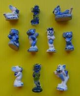 Fève - Série Complète - Les Rêves De Tom Et Jerry. - 2 Fèves En Verre - Dessins Animés