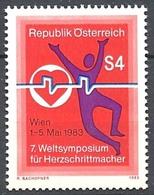 Timbre Neuf** D'autriche, N°1566 Yt, 7è Symposium Mondial Des Stimulateurs Cardiaques à Vienne Wien - 1945-.... 2ème République