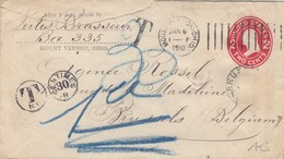 COVER. LETTRE. USA. 1910.MOUNT VERNON TO BELGIUM. DUE TAXE - Unclassified