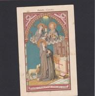 Neogotische Devotieprent Sainte Colette - Religion & Esotericism