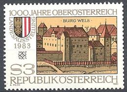 Timbre Neuf** D'autriche, N°1565 Yt, Millénaire De La Haute Autriche, Exposition, Armoiries Et Château De Wels - 1945-.... 2ème République