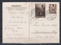 Dt.Reich Ganzsache Zum Reichsparteitag 1939 MiNo. P 282 Zufrankiert 701 O Bopfingen/1.9.39 Nach Geislingen - Deutschland