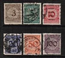 GERMANY  Scott # 323-8 VF USED (Stamp Scan # 458) - Germany