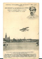Carte Aviation: Concours D'Hydroaéroplane De Tamise , Géo Chemet Sur Son Hydravion Borel , 1912 - Meetings
