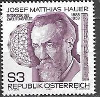 Timbre Neuf** D'autriche, N°1562 Yt, 100 Ans De Josef Matthias Hauer, Musicien Découvreur Du Jeu Dodécaphonique - 1945-.... 2ème République
