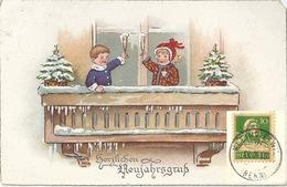 """AK  """"Herzlichen Neujahrsgruss""""  Kleindietwil - Blonay            1922 - Suisse"""