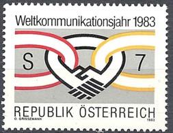 Timbre Neuf** D'autriche, N°1560 Yt, Année Mondiale Des Communications - 1945-.... 2ème République