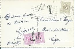 Zichtkaart Knokke Zeedijk Met OCB 855 Gebruikt Als Strafportzegel - Taxes