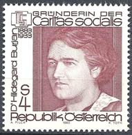 Timbre Neuf** D'autriche, N°1558 Yt, 100 Ans Du Docteur Hildegarde Burjan, Caritas Socialis - 1945-.... 2ème République