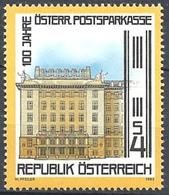 Timbre Neuf** D'autriche, N°1558 Yt, 100 Ans De La Caisse D'épargne Postale - 1945-.... 2ème République
