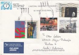 GOOD USA Postal Cover To ESTONIA 2015 - Good Stamped: Art / Battles ; Apollo ; National Park - United States