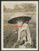 VIETNAM  - Très Belle Photo Originale   - Vieux Ouvrier De Plantation De Riz - Lieu à Identifier - Lieux