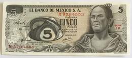 El Banco De Mexico S.A. - Cinco Pesos - 1971 - Mexique