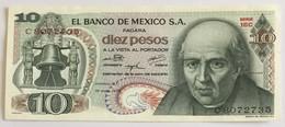 El Banco De Mexico S.A. - Diez Pesos - 1975 - Mexique
