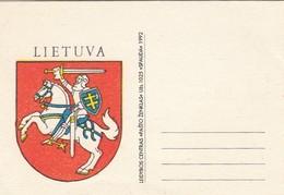 GOOD LITHUANIA Postcard 1992 - Coat Of Arms - Lithuania