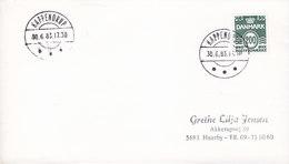 Denmark Brotype IId KAPPENDRUP 1983 Cover Brief 200 Øre Wellenlinien (SCARCE Cds.) - Dänemark