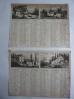 ALMANACH  Calendrier  1835  2 SEMESTRIELS  Allégorie Source De La Meuse, Eglise De Marville, Belleville, St Jean De Mont - Calendars