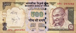 """INDIA 500 RUPEES 2011 F P-99x """"free Shipping Via Registered Air Mail"""" - India"""